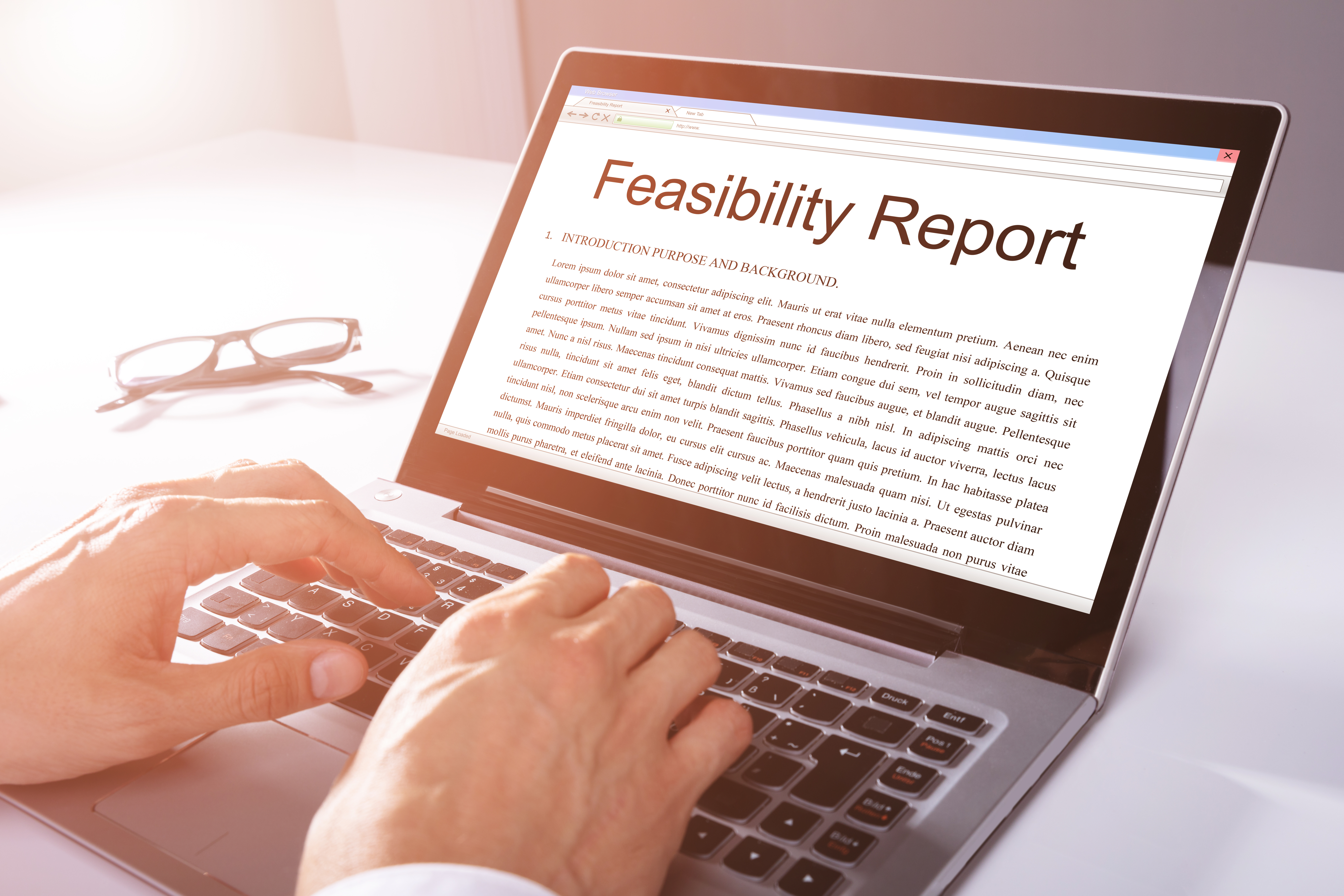 feasibility report setting up an online business