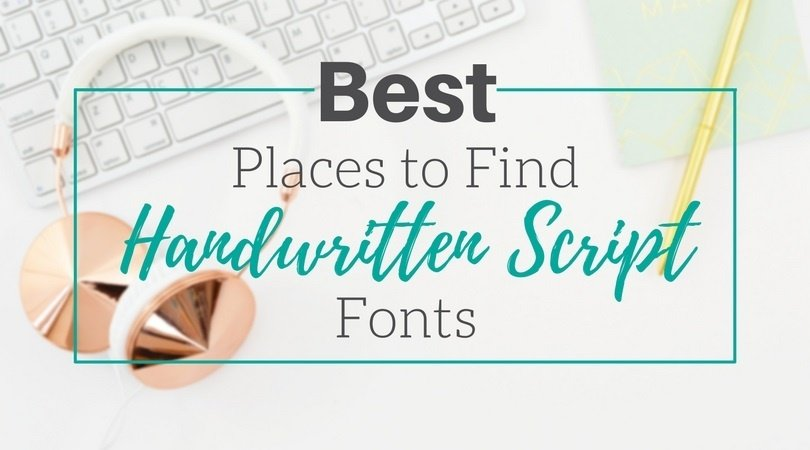 Best Places to Find Handwritten Script Fonts