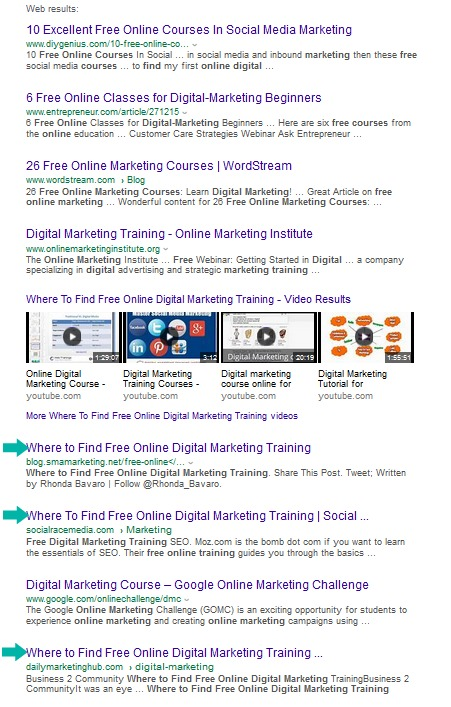 SERP of where to find free online digital marketing training.png