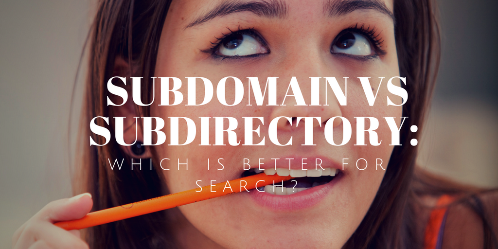 Subdomain Vs Subdirectory_