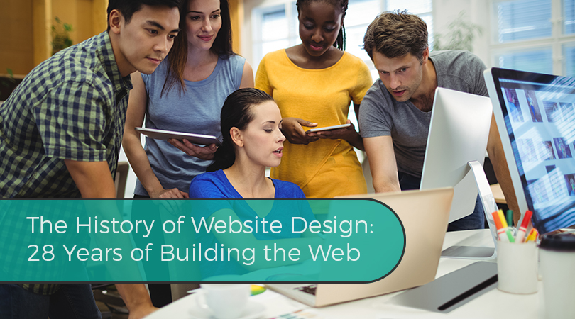 The History of Website Design 28 Years of Building the Web