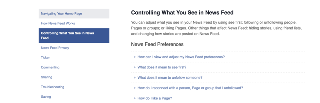 controling your Facebook feed