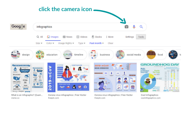google image search - camera icon