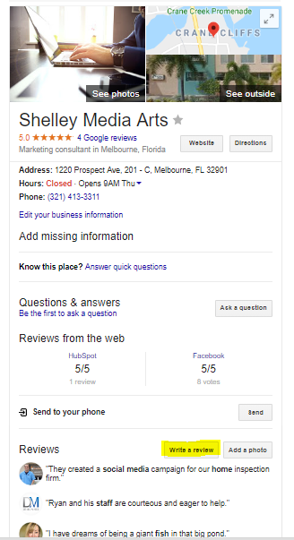 how to write a google review